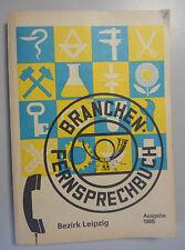 Branchen -Fernsprechbuch Bezirk Leipzig  Deutschen Post 1988