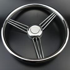 Newest 9 Spoke Stainless Steel Marine Boat Steering Wheel 13-1/2'' Helpful