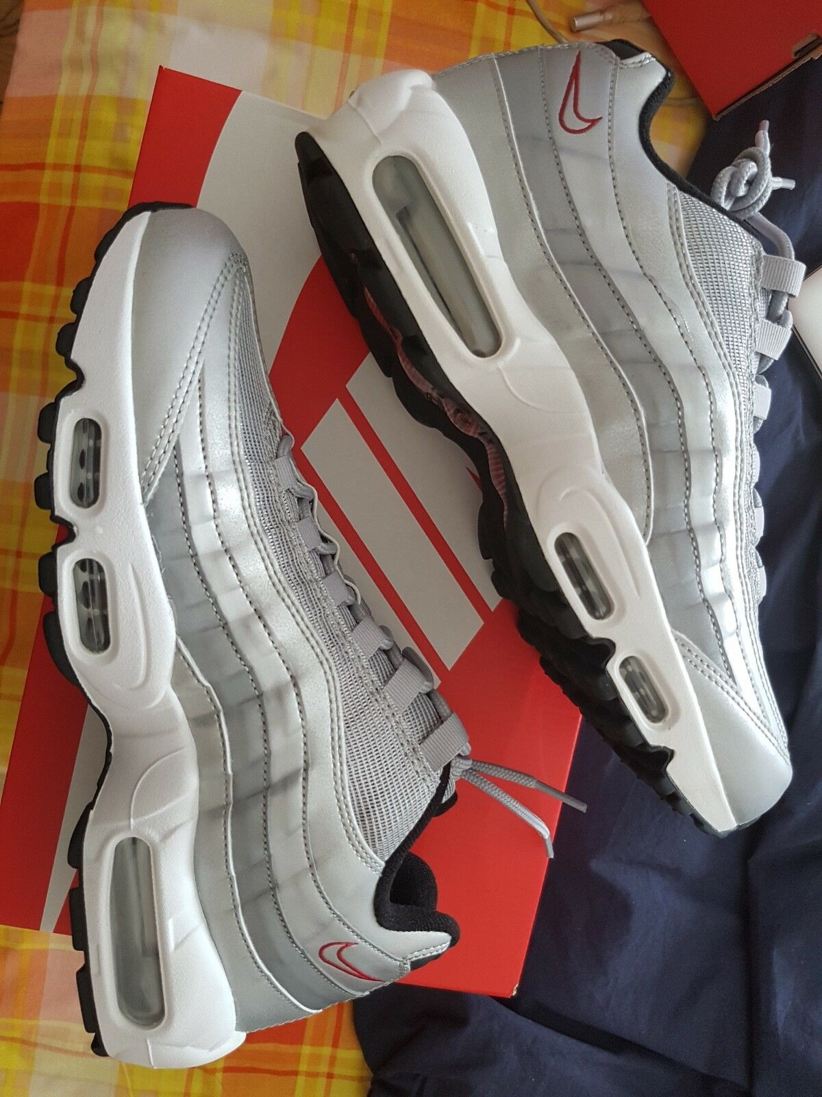 best service 1b6dc 215ac Nike Air Max 95 Silver Bullet UK 8.5 110108