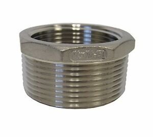 New-304-Stainless-Steel-1-1-2-MNPT-X-1-1-4-FNPT-Reducing-Bushing-Class-150