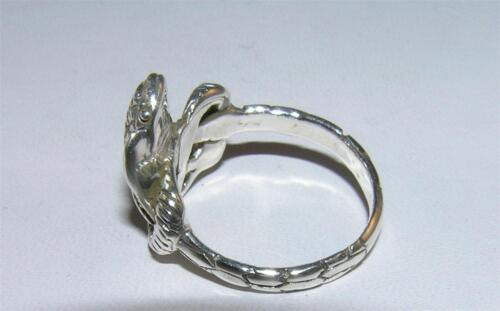 Coiled Cobra Snake Ring Detailed Band Sterling Silver Sizes 5.5 and 6.5