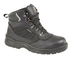 MENS-SIZE-7-14-GRAFTERS-WATERPROOF-BLACK-LEATHER-TALL-SAFETY-TOE-WORK-BOOTS
