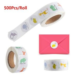 Packaging Thank You Thank You Stickers Round label Animal seal Sticker roll