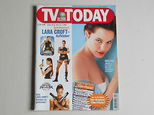 Film-fanartikel Angelina Jolie Lara Croft Tomb Raider Aufkleber Sticker Tv Today 14/2001 üPpiges Design Filme & Dvds