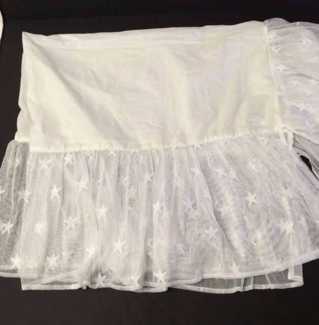 Wendy Bellissimo Starlight Lace Overlay Crib Skirt For Honey Bee