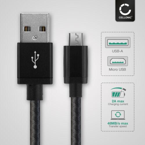 Cable USB Sony Cyber-shot dsc-wx300 Cyber-shot dsc-wx350 cable de carga 2a negro