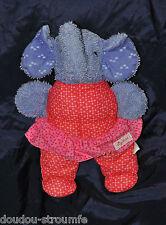 Peluche Doudou Eléphant Musical SIGIKID Schmusetuch Elefant 23 Cm TTBE