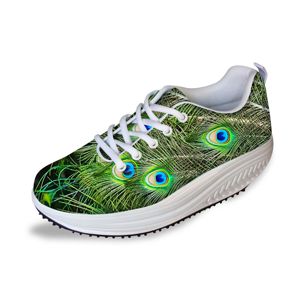Feather Womens Ladies Shape Up Fitness Walking shoes Platform Slimming Trainers