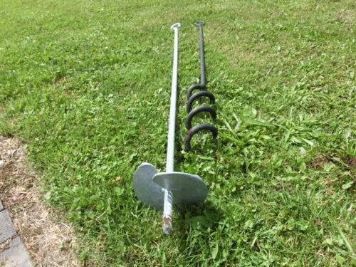 Erdanker GIGANT 125cm Weidezelt Zeltanker SLACKLINE  Verankerung 120cmSTAHL f