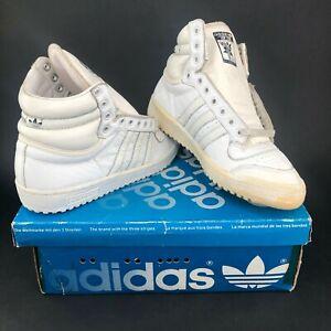 fc6be9240afa8 Details about Vintage 80s adidas Top Ten Hi 1GA Basketball Shoe White  Deadstock OG Old Stock