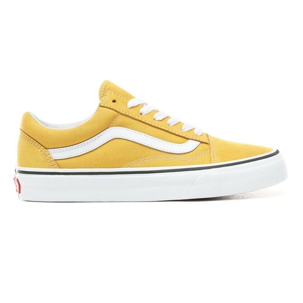 Nuevas Vans Old Skool teoría del Color Amarillo Yema blancoo verdadero Tenis Zapatos 2019