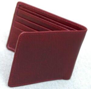 Cuero-Genuino-para-Hombre-de-Cuero-estilo-Billetera-de-Lujo-Suave-Caballeros-Soporte-de-tarjeta