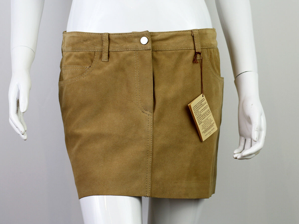 MUGLER PARIS SUEDE LEATHER SKIRT SIZE 40