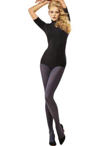 Egeo Passion Womens 60 Denier Opaque Black Tights Microfibre Pantyhose