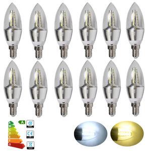 6-12x-Kleines-Edison-Schraube-E14-6W-LED-Kerze-Leuchtmittel-Strahler-SES-Warm-Tag-weiss