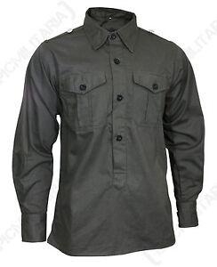 German Army MILITARY FIELD SHIRT Hemden - All Sizes Field Grey ... e873983687
