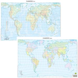Mappa Mondo Cartina.Mondo Cartina Da Banco Muta Bifacciale A3 29 7x42 Cm Carta