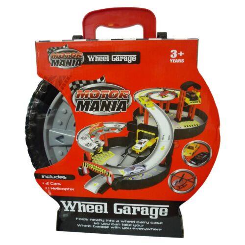 Motor Mania Ruota Giocattolo Garage Fold Out Immagazzinamento Custodia Portatile