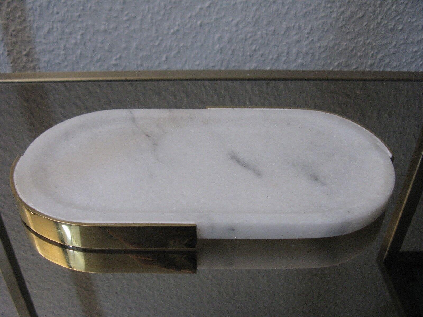 Plaque Assiette Plateau Marbre Blanc Ovale 28 cm manufakturware NEUF