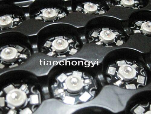 50pcs 3W High Power LED Lamp Bead Infrared IR Light 850nm /&20mm star Base