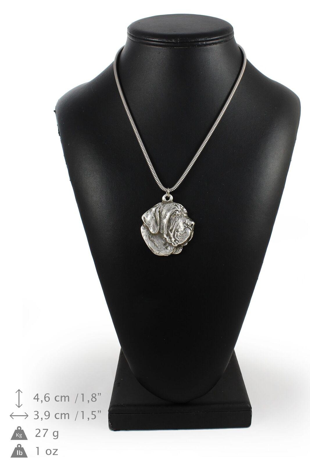 Mâtin espagnol - silver plaqué collier sur une cordon en silver Art Dog FR