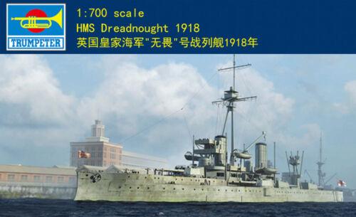 Trumpeter 06706 1//700 HMS Dreadnought 1918 Plastic Model Warship Kit