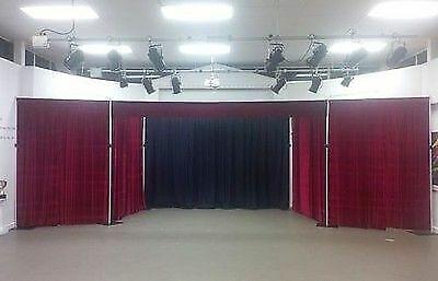 Black Serge Wool Stage Drape Theatre or Club 4m X 2.3m KILO SERGE ACOUSTIC DRAPE