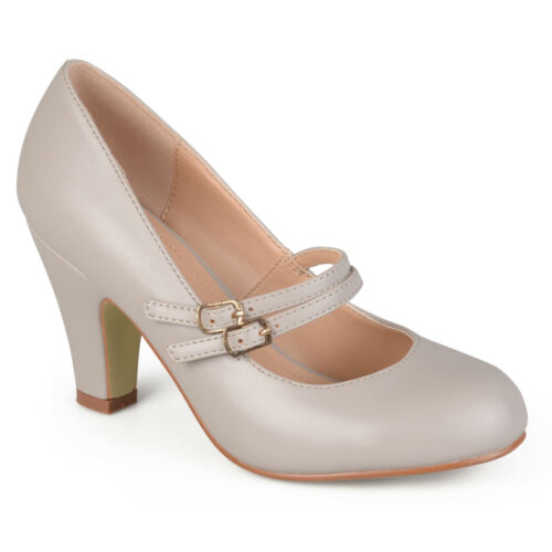 Journee Collection Womens Matte Finish Classic Mary Jane Pumps New