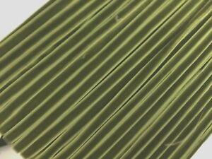 """Vintage 1/4"""" Velvet Ribbon Moss Green 3yds Made in France"""