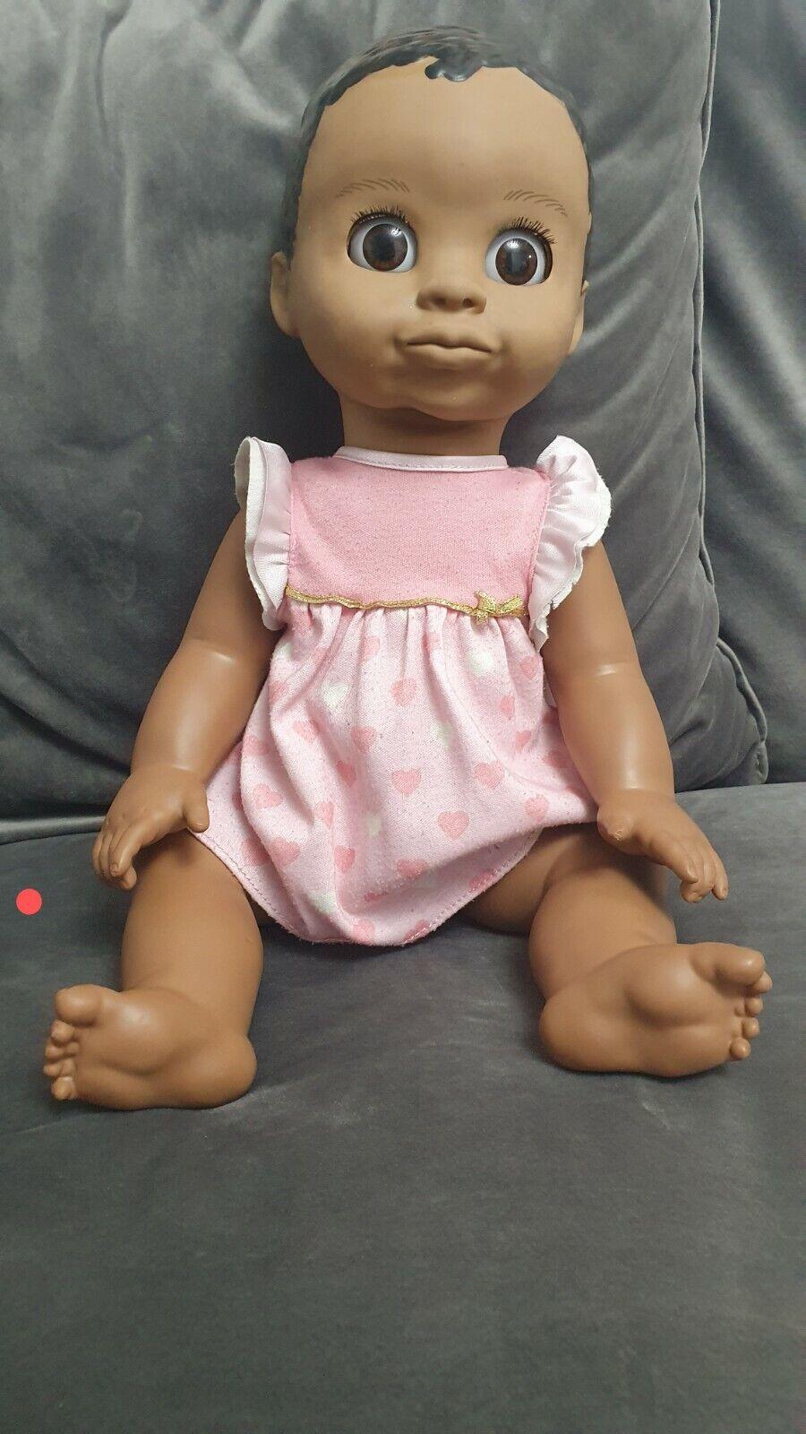 Luvabella neonato Marrone Scuro Capelli Interattivo Baby Doll
