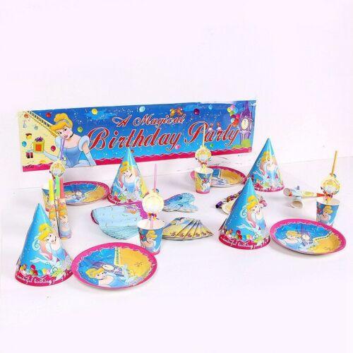 Disney Princess Cinderella Birthday Party Supplies Bag Disney Tableware Balloon