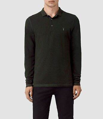 """XS M NEW TAGS ALL SAINTS RACING GREEN /""""REFORM/"""" SHORT SLEEVE POLO SHIRT TOP"""