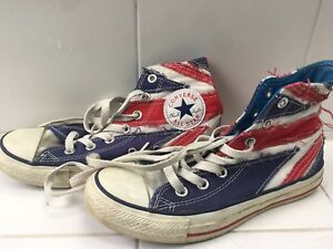 596bb9329f92 CONVERSE UNION JACK canvas high top sneakers THE WHO shoes men s ...