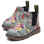 Kid-Ankle-Boots-Girls-Boys-Floral-Print-Chelsea-Martin-Boots-Toddler-Shoes-Size