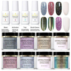 12PCS-Set-BORN-PRETTY-Nail-Chameleon-Glitter-Dipping-Powder-System-Liquid-Kit