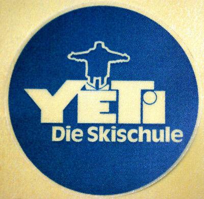"""""""yeti Die Skischule"""" Reklamemarke Aus Stoff, München Um 1970/80"""