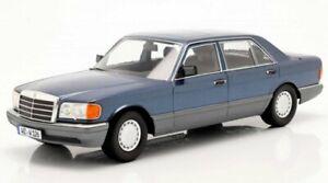 MB Mercedes Benz 560 SEL / W126 - 1985 - nautic blue - iScale 1:18