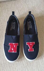 856c81bf51e0 Bobs for Skechers B Loved Go Team Navy w Red NY Letters Sneaker Shoe ...