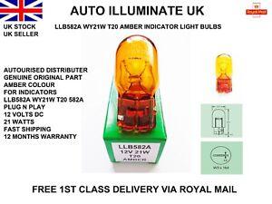 LUCAS-582A-T20-7440-AMBER-ORANGE-WY21W-INDICATOR-WEDGE-LIGHT-BULB-LAMP-12V-21W