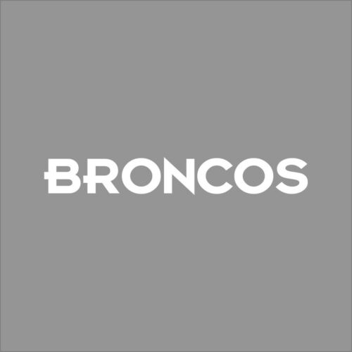 Denver Broncos #2 NFL Team Logo 1 Color Vinyl Decal Sticker Car Window Wall