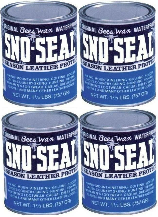4X Quart Atsko Sno Seal Beeswax Snow Rain Sun Salt Water Guard avvio Prossoection