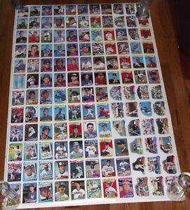 1989 Topps Baseball Cards Uncut Sheet A6 Ebay