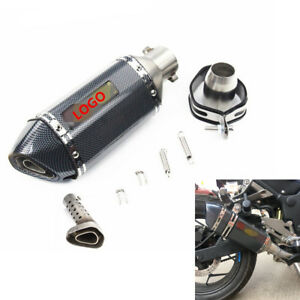 Motorcycle-Exhaust-Muffler-Pipe-Tip-Carbon-Fiber-Stainless-Steel-With-DB-Killer