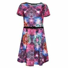 Kinder Mädchen Swing Kleid Hahnentritt Aufdruck Mode New Alter 3-13 Jahre