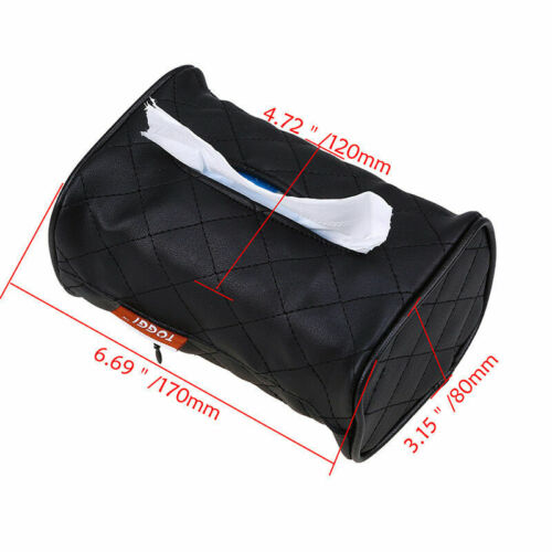 Durable PU Tissue Napkin Box Holder for Home Office Car Rectangular with Buckle