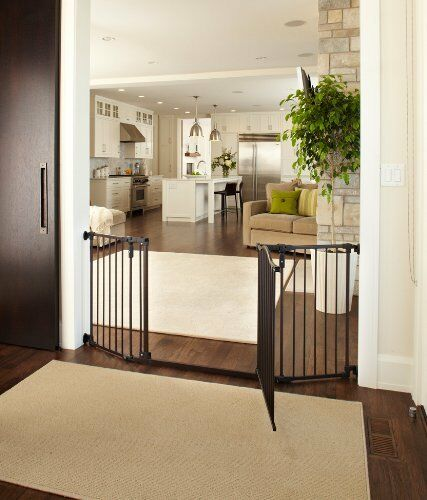 """Supergate Deluxe Décor Gate Fits Spaces 38.3/"""" to 72/"""" Wide  30/""""high 3DAYSHIP"""