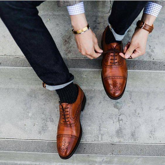 la vostra soddisfazione è il nostro obiettivo Handmade Uomo Marrone Oxfords Formal scarpe Uomo brogue brogue brogue dress scarpe Leather scarpe men  una marca di lusso