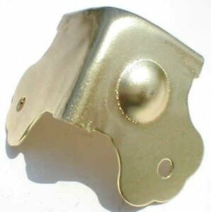 Choice brass plated trunk or box corners