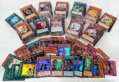 Yugioh Card Bulk Collection Lot 1400 NM 1300 Commons + 50 Rares + 50 Holos