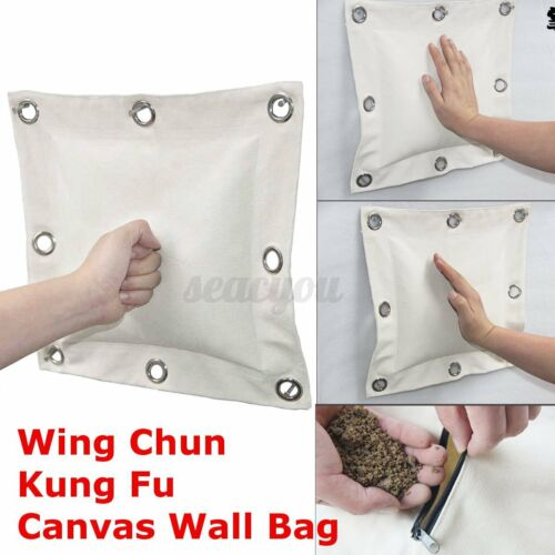 Wing Chun Kung Fu Punching Sand Bag Martial Art Boxing Hang Wall Canvas Cove